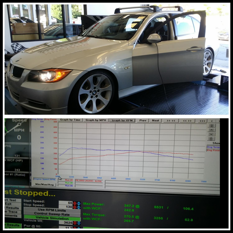BMW N54 Dyno tuning in Atlanta.