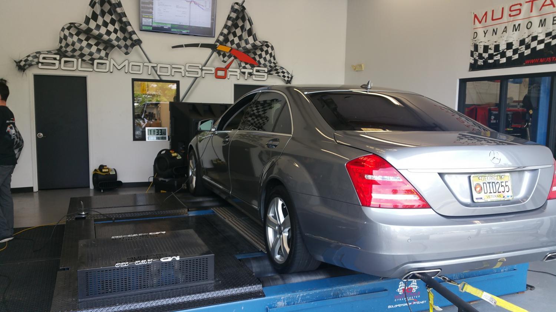 Mercedes S550 Dyno tuning
