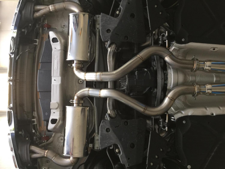S63 AMG - custom exhaust