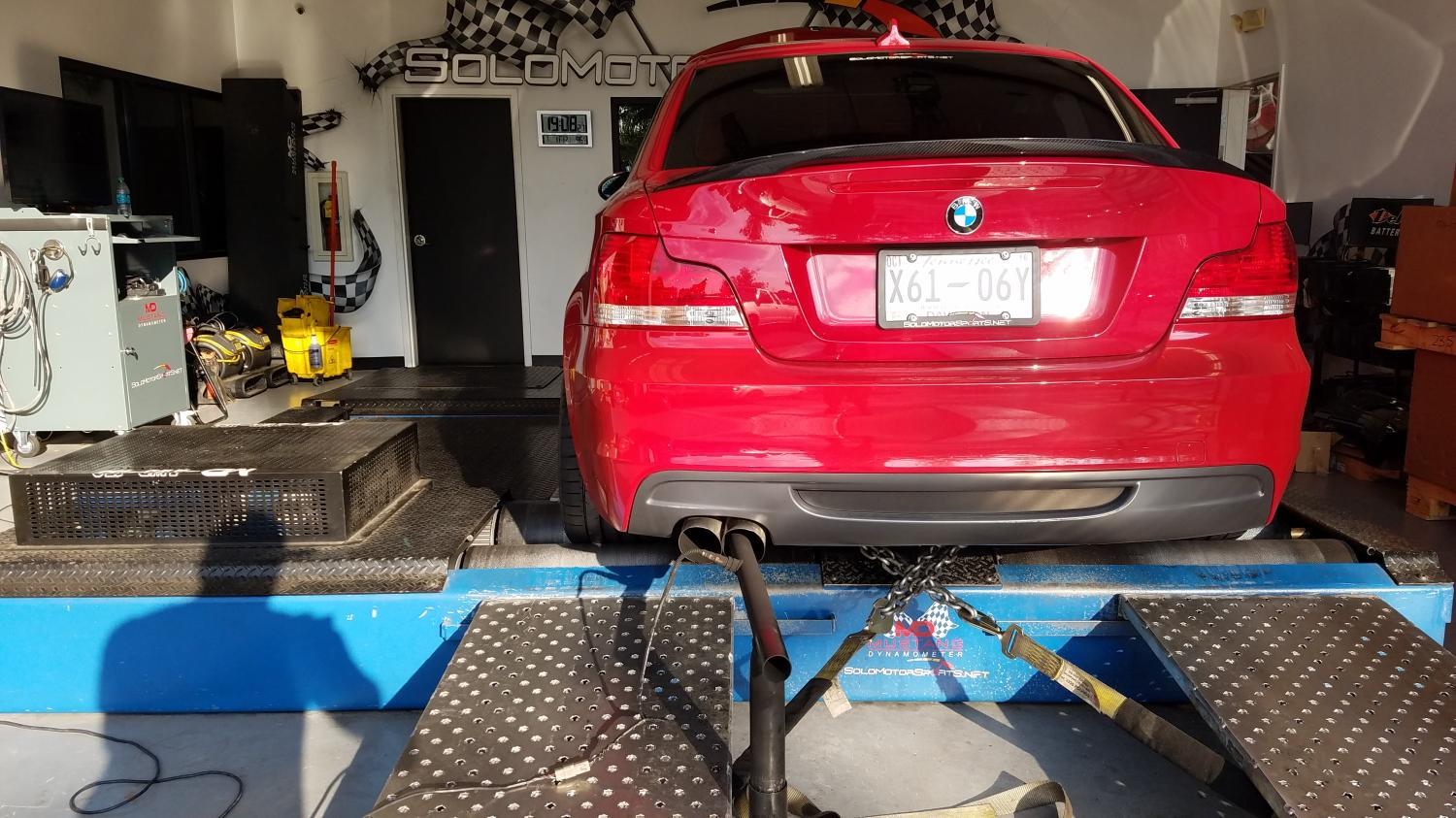 BMW 135i ready to get tuned.