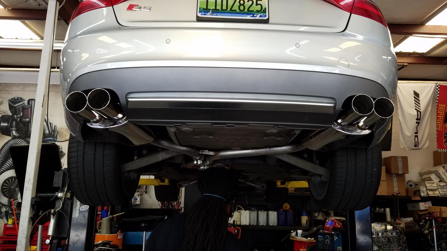 Audi S5 exhaust install