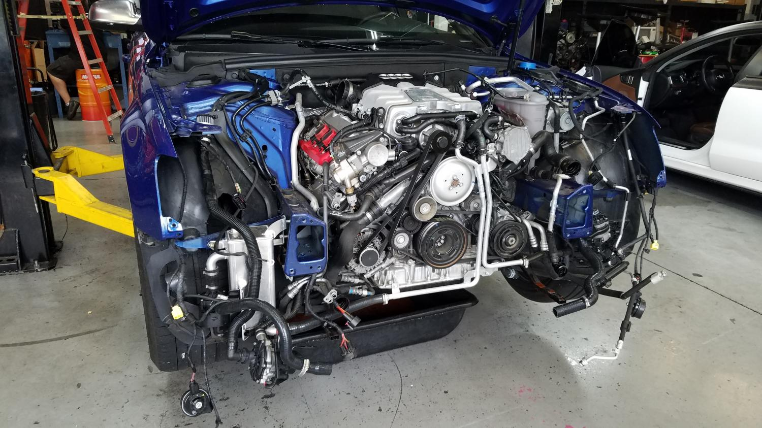 2013 Audi S4 in for surgery