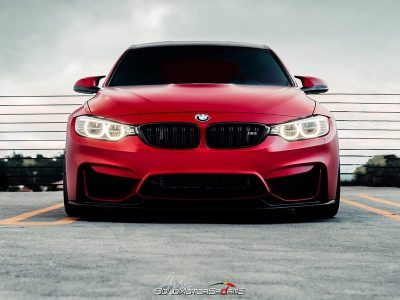 VRSF downpipes Installment | Frozen Red BMW F80 M3