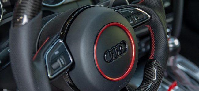 OEM+ AskCarbon Custom Carbon Fiber Steering Wheel Install Audi S5