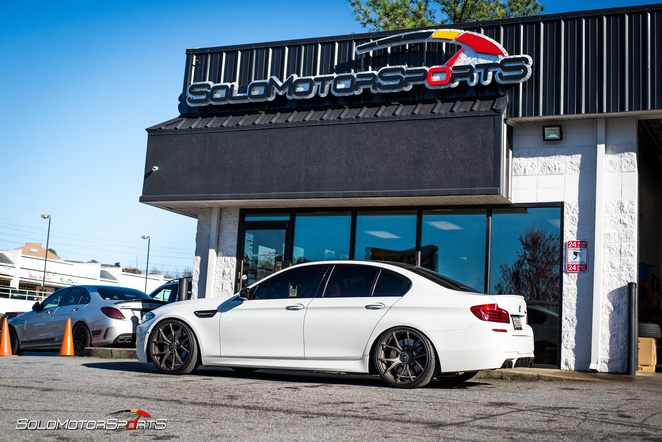 bmw m5 suspension coilover kit kw hotchkis kit one stop shop atlanta ga solo motorsports mpower mperformance suspension install