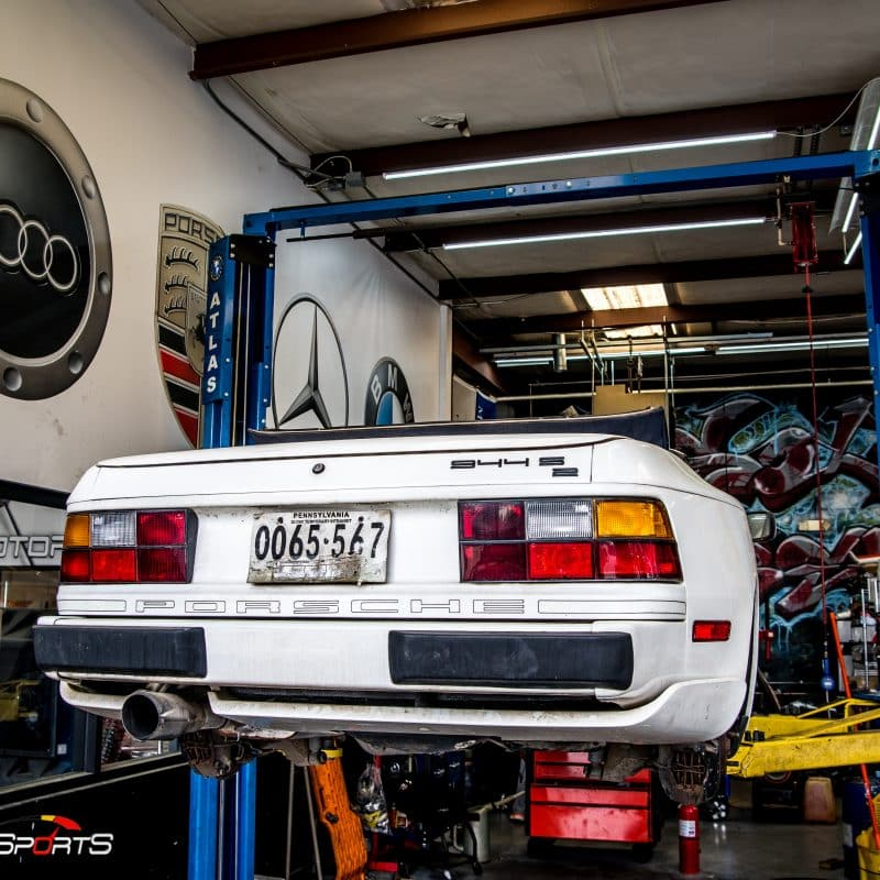 porsche atlanta 944 s2 cabrio cabriolet revilal barnfind barn find classic porsche maintenance service repair filters suspension tires alignment wake up 944s2 oil change brakes windows clean one stop shop solo motorsports georgia dyno tuning customtune