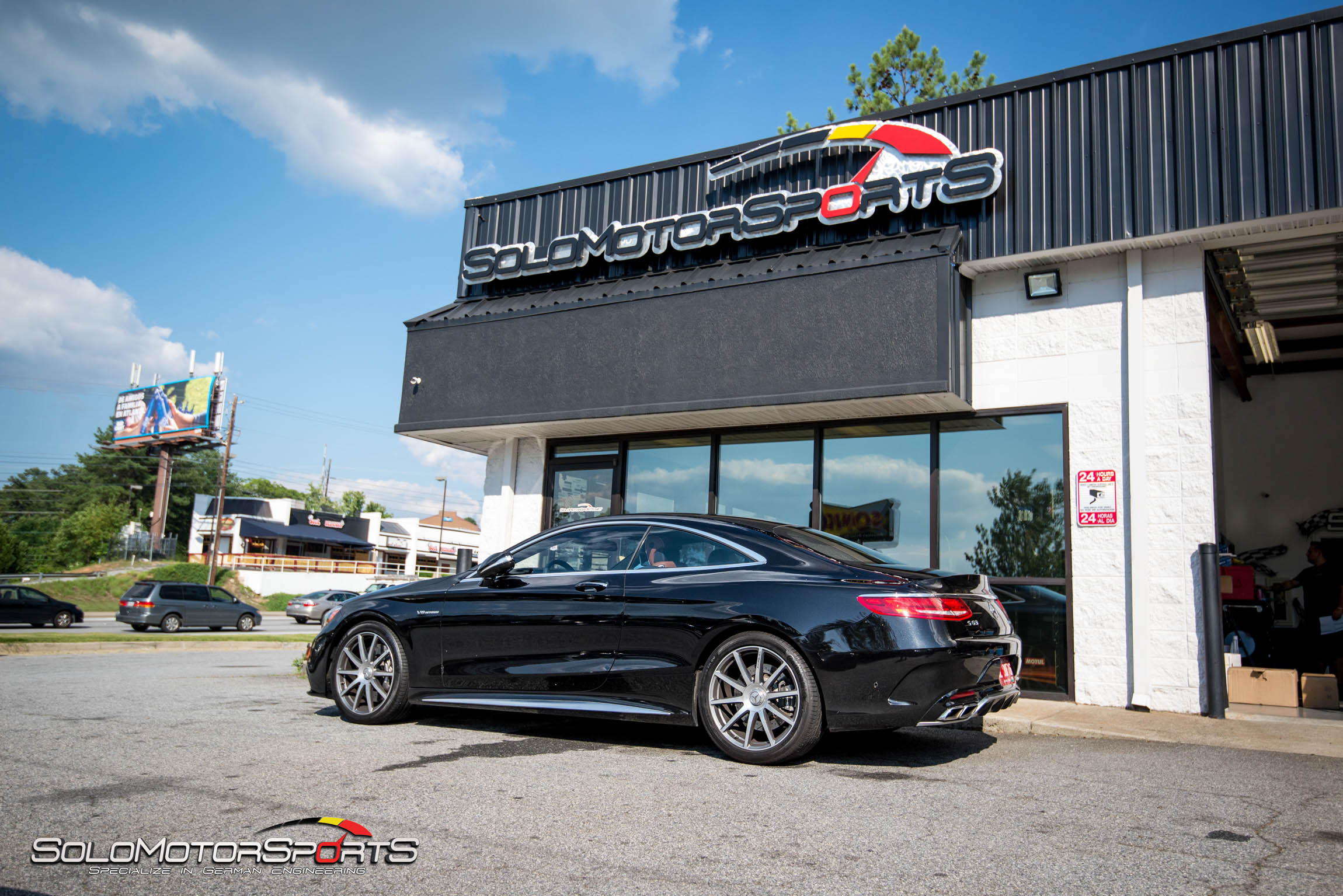 S63 AMG in for dyno run