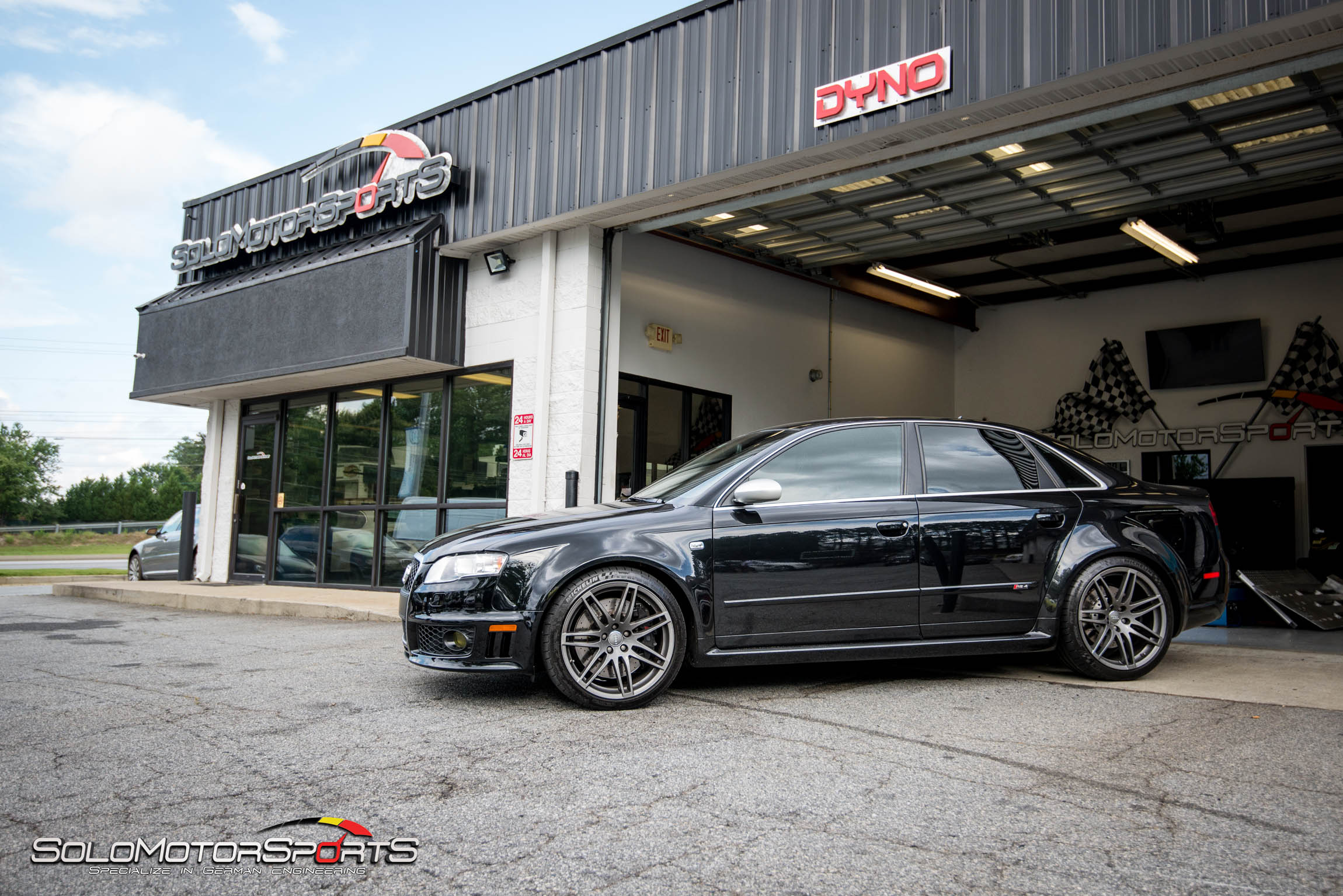 Audi B7 RS4 in for Milltek Exhaust