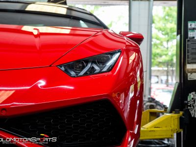 Lamborghini Huracan in for Custom Exhast