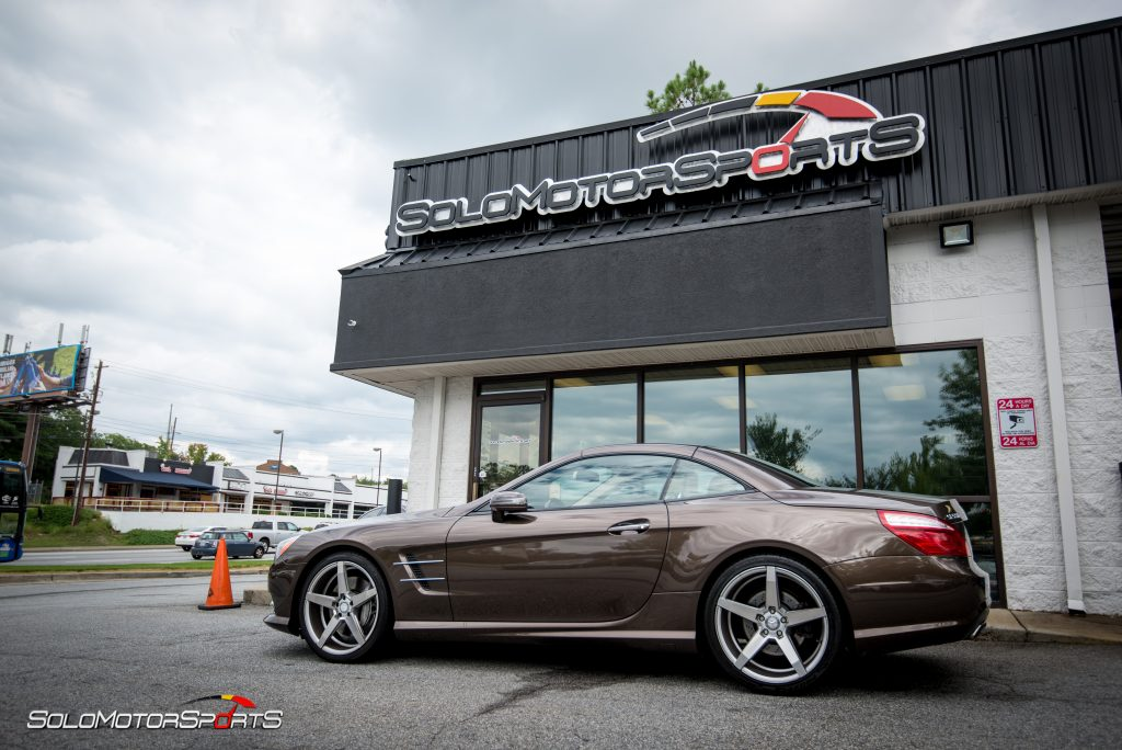 2013 Mercedes-Benz SL550 in for downpipes and SMS Tune