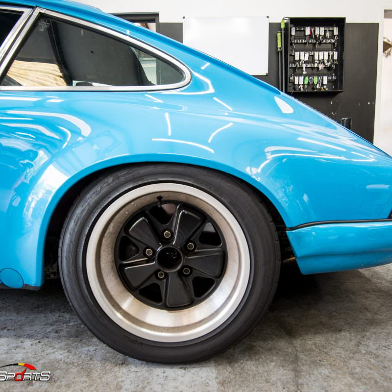 classic 1983 porsche 911sc in for service and maintenance, solomotorposrts performs maintenance and service on all european classic cars