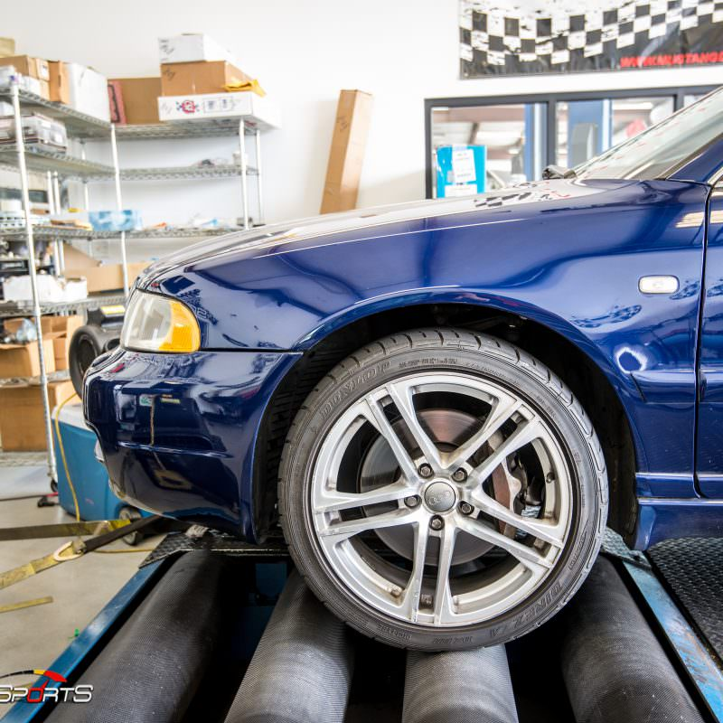 2001 Audi B5 S4 in for Dyno Run, Dyno runs are performed to calculate cars power