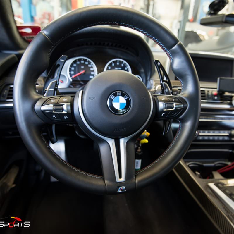 bmw m6 f12 f13 carbon fiber install steering wheel mirror caps center console atlanta bmw specialists