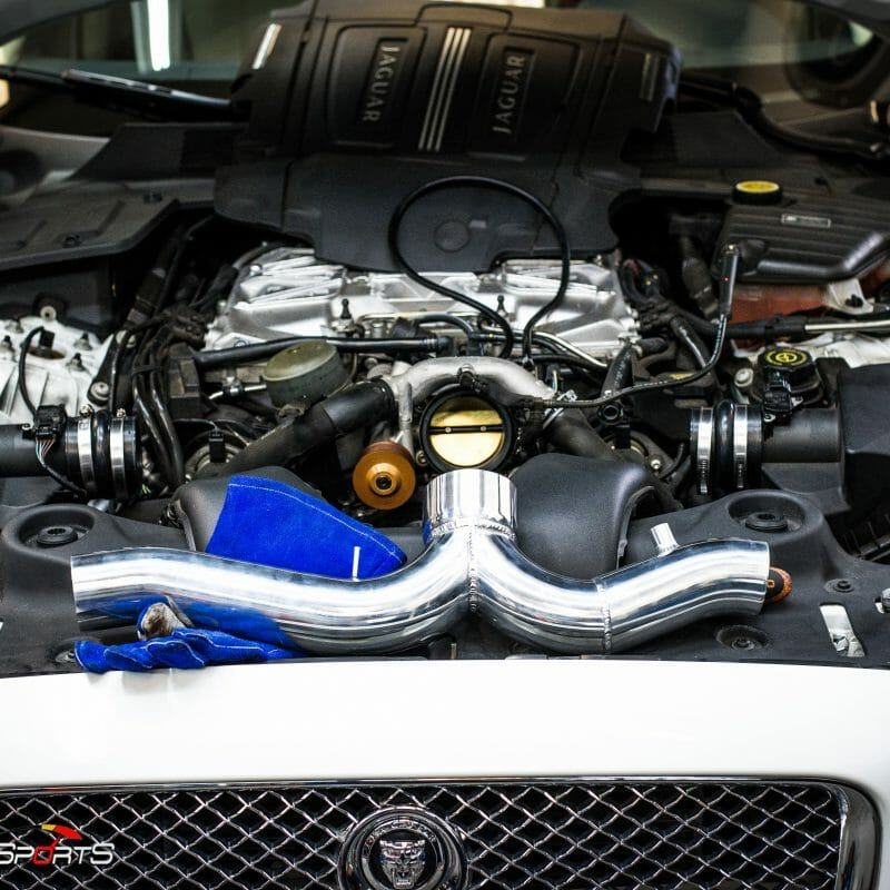 jaguar xjl supercharged v8 pulley air intake install custom solo motorsports tuning custom tuning