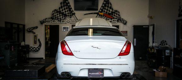 jaguar xjl supercharged v8 pulley air intake install custom solo motorsports tuning custom tuning