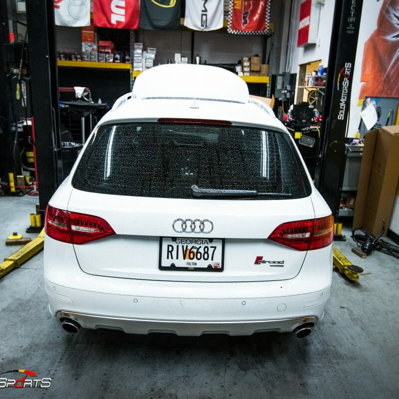Audi a4 allroad suspension brakes wheel tires alignment porsche big brake kit atlanta solo motorsports
