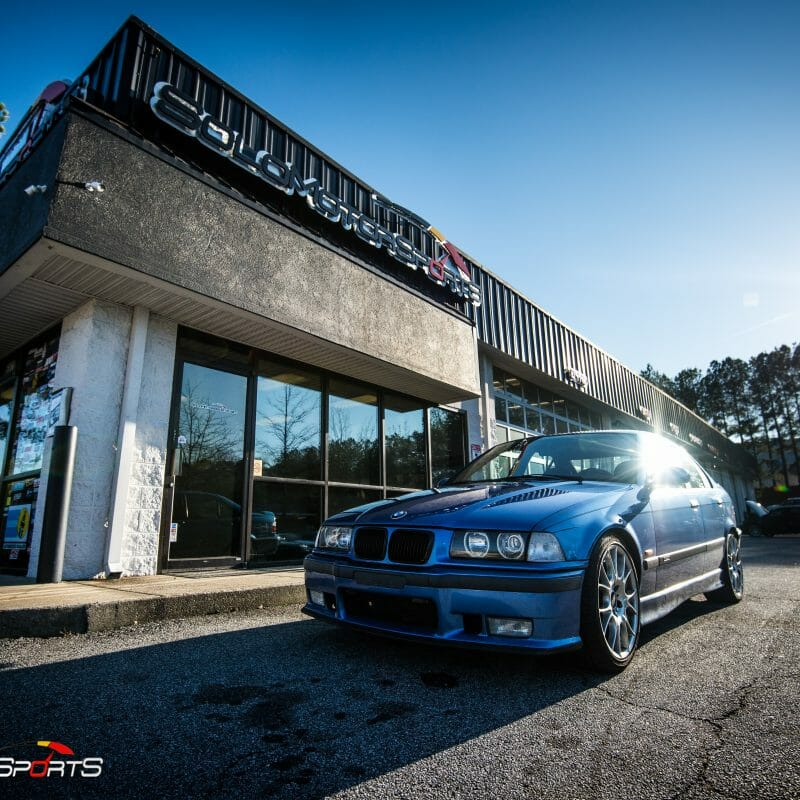 bmw m3 e36 s52 estoril blue prepurchase inspection solo motorsports atlanta georgia mpower maintenance service bmwperformance bmwm mpoerformance alignment inspection