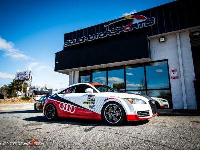 Audi TT Racecar with Audi Race-Colors Custom Wrap