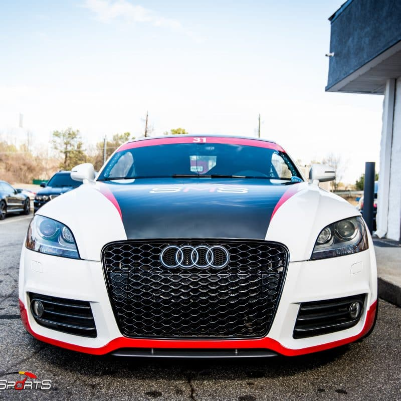 racecar audii tt quattro v6 vr6 wheels and tires suspension custom tune solo motorsports dyno 4point 6point race roll bar harness race harness rollcage sparco ttrs hotchkins raceready ttspec race spec mcs coilovers ground control camber plates track ready suspension race alignment race colors audi race wrap custom wrap