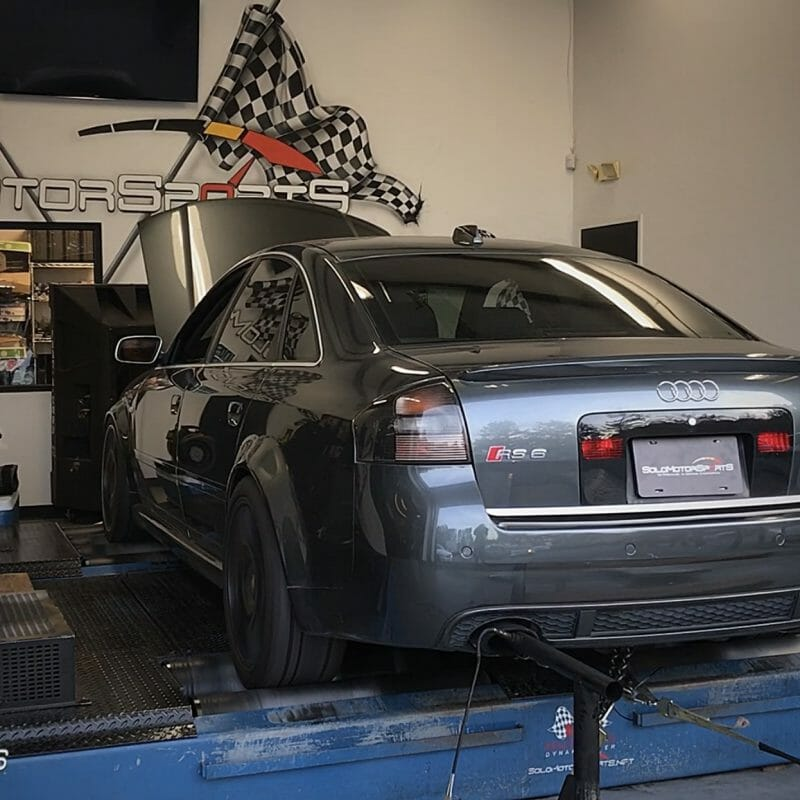 audi c3 rs6 in for custom solo motorsports dyno tune maintenance clean v8 twinturbo atlanta tuning