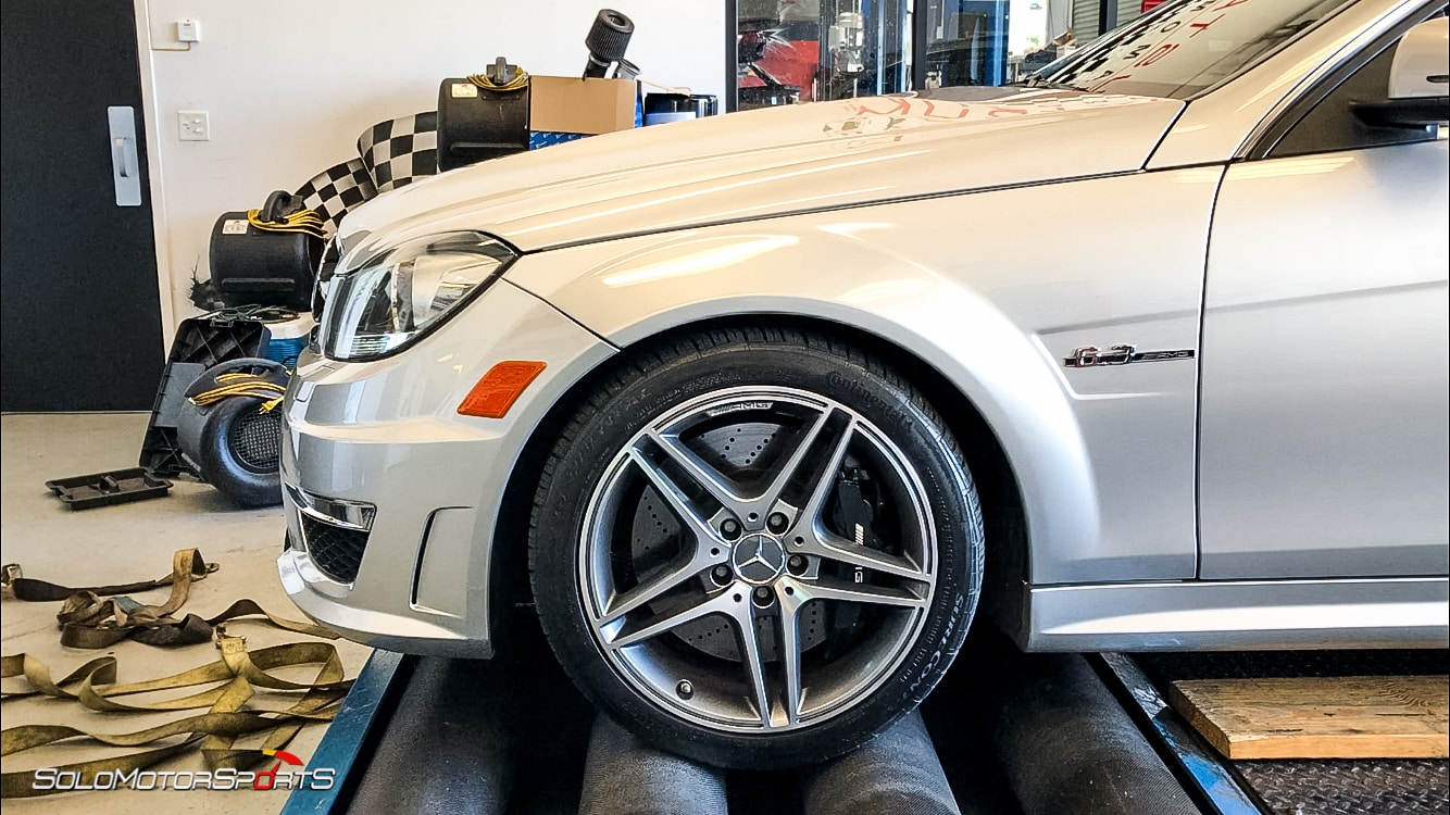 mercedes benz amg c63 dyno dynometer power measure v8 wheel horsepower hp atlanta solo motorsports onestopshop one stop shop dynopulls dyno pulls silver arrow