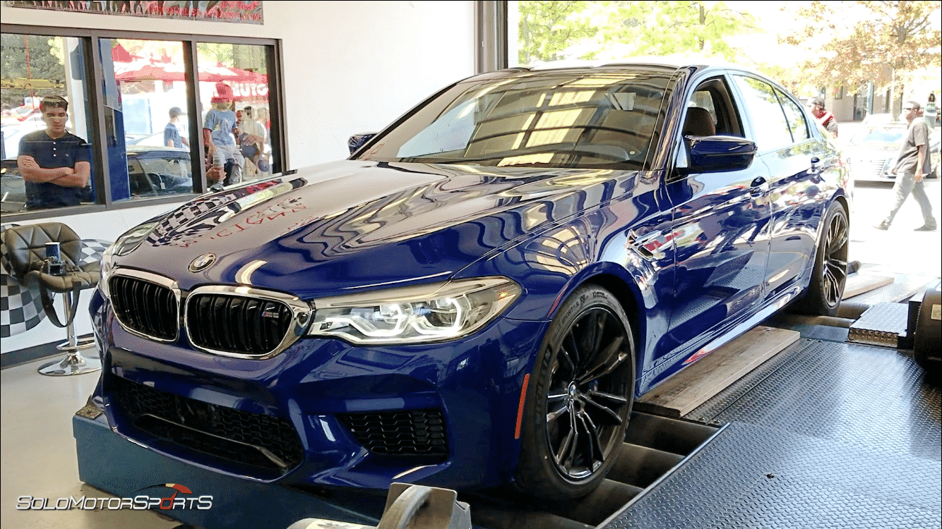 bmw f90 m5 2018 dynopull dynorun dyno pull dyno run dynometer mustang dyno power measurement hp horsepower twin turbo turbo mperformance mpower atlanta georgia solo motorsport atlanta tuning