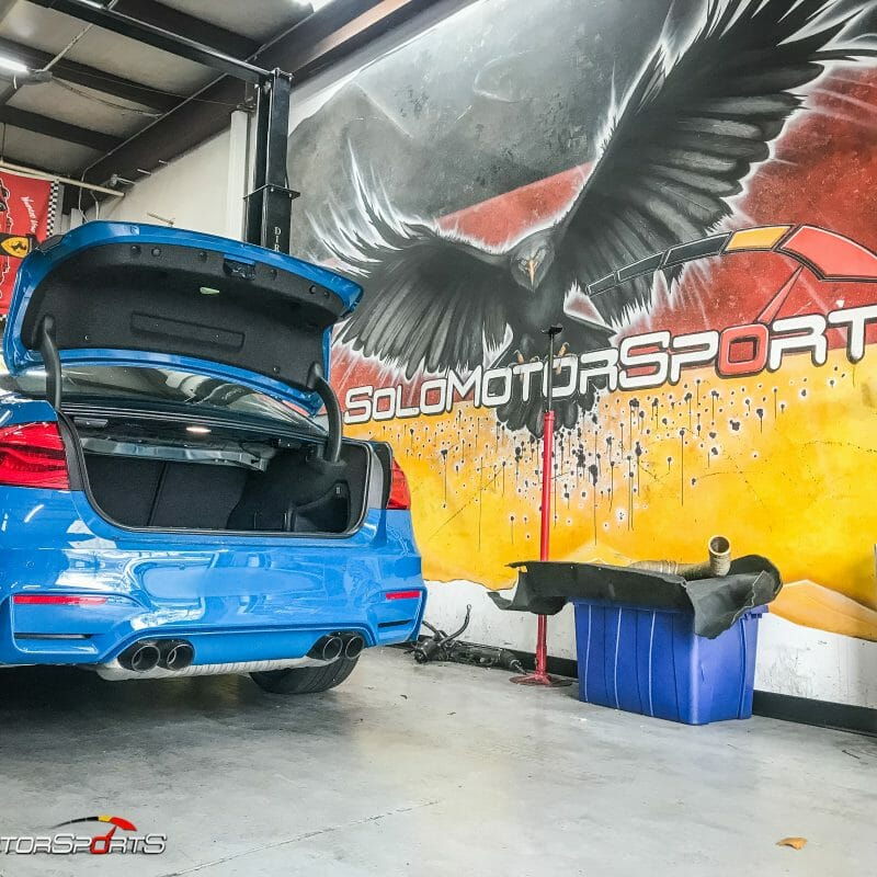 bmw f80 m3 individual laguna seca in for inspection before purchase solo motorsports your bmw specialists