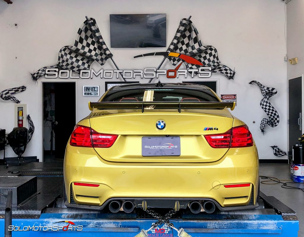 BMW M4 in for performance bits and Custom Tune