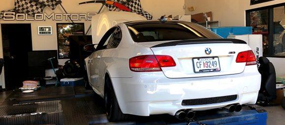 bmw m3 e92 in for performance upgrades custom tune by solo motorsports atlanta ga