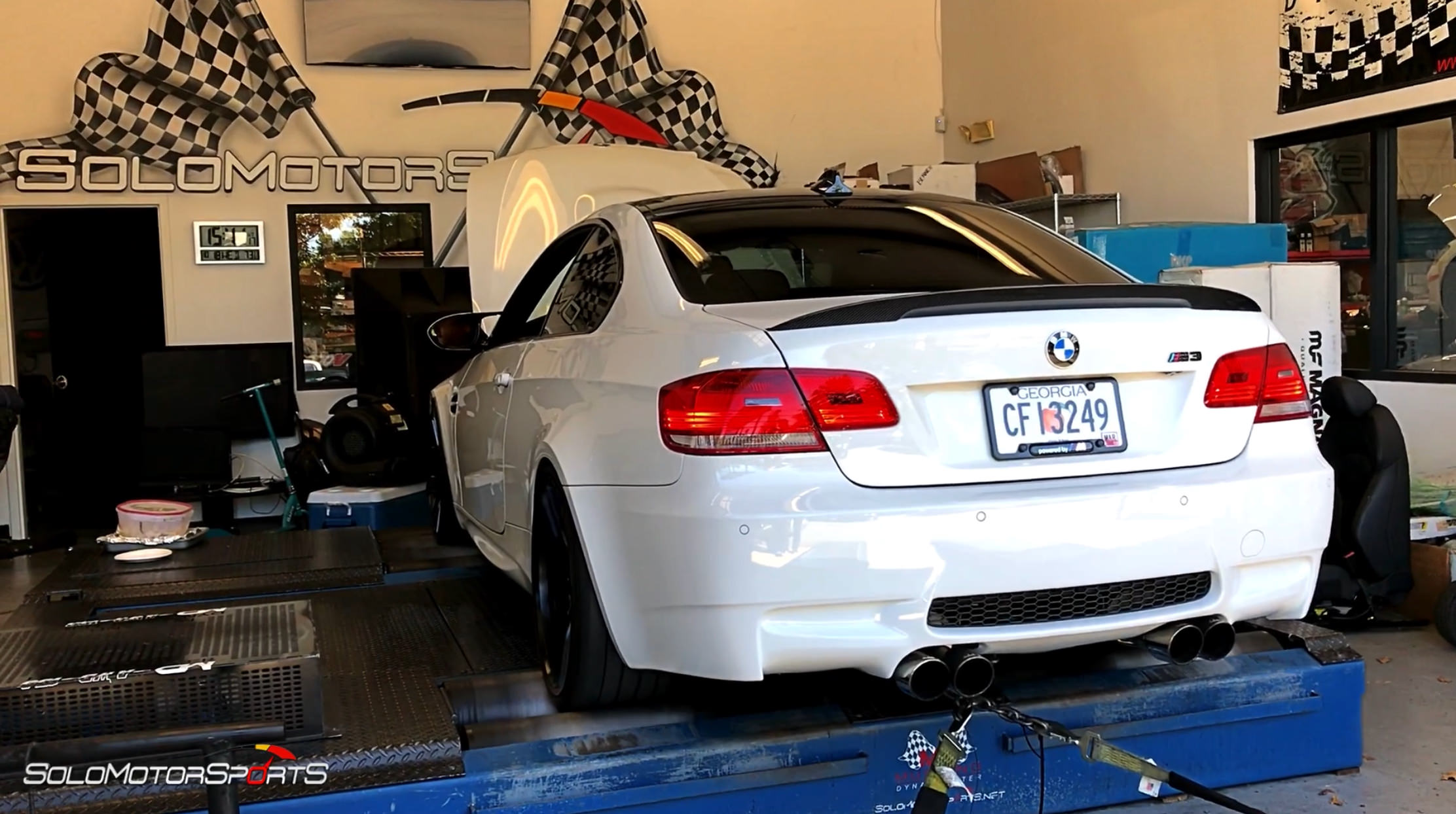 bmw m3 e92 in for performance upgrades custom tune by solo motorsports atlanta ga