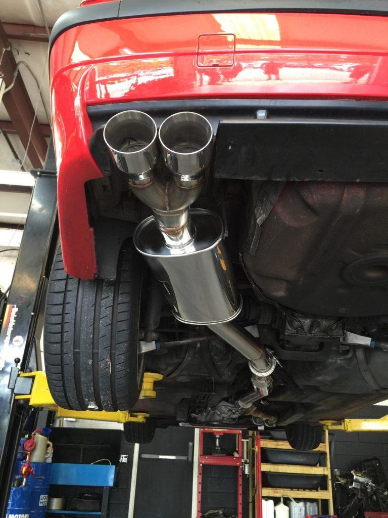 E36 S54 Custom 3in exhaust